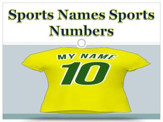 Sports Names Sports Numbers