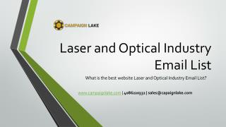Laser and Optical Industry Executives Email List | Optical Database