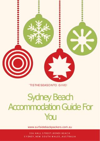 Sydney Beach Accommodation Guide For You at Best Price
