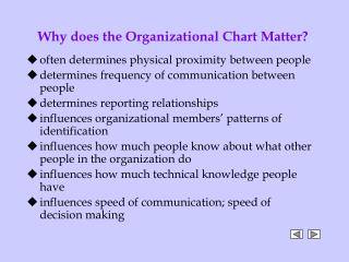 Why does the Organizational Chart Matter?