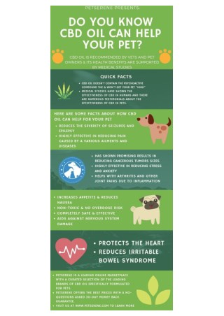 HOW CBD OIL CAN HELP YOUR PET - PRESENTED BY PETSERENE