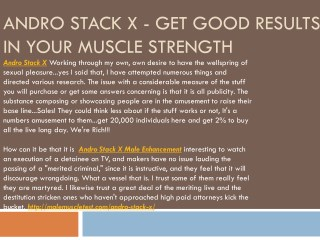 Andro Stack X - Improve Your Stamina Level