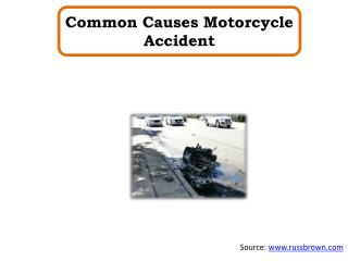 Common Causes Motorcycle Accident