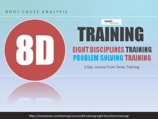 8D Training, Eight Disciplines Training : Tonex Training