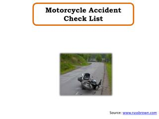 Motorcycle Accident Check List