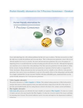 Pocket-friendly alternatives for 5 Precious Gemstones - Gemkart.com
