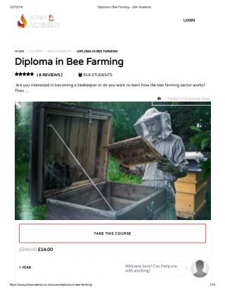 Diploma in Bee Farming - John Academy