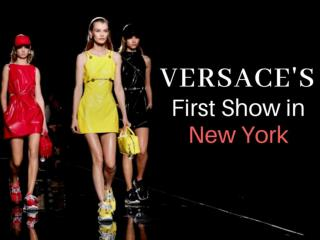 Versace's first show in New York