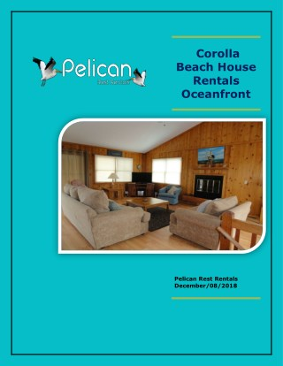Corolla Beach House Rentals Oceanfront