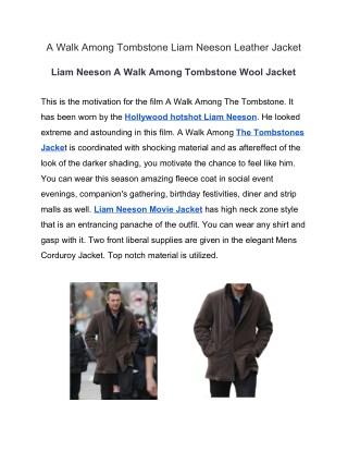 A Walk Among Tombstone Liam Neeson Leather Jacket