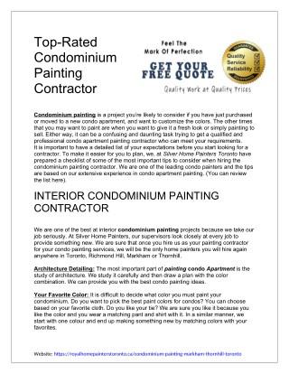 Professional Interior Condo Painters in Toronto