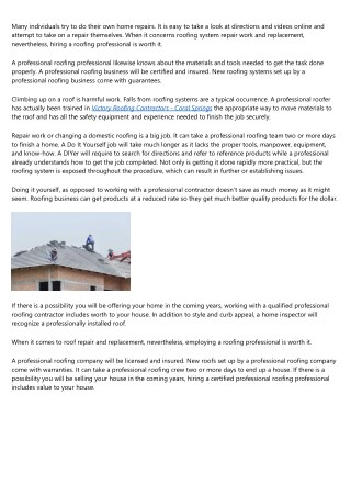 Significance of Hiring a Professional Roofing Contractor