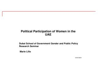 Political Participation of Women in the UAE