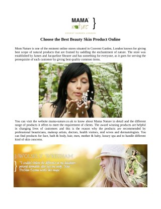 Choose the Best Beauty skinProduct Online