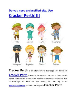 •	Secrets Your Parents Never Told You About Do You Need A Classified Site, Use Cracker Perth!!!!