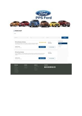 PPS Ford Workshop | Ford Dealers