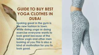 Guide to Buy Best Yoga clothes in Dubai