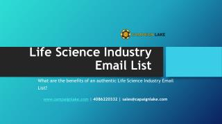 Life Science Industry Email List