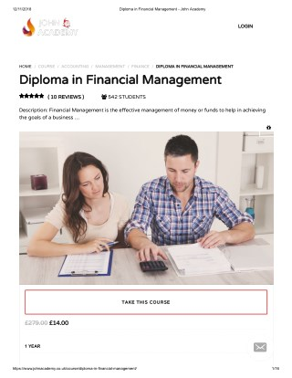 Diploma in Financial Management - John Academy