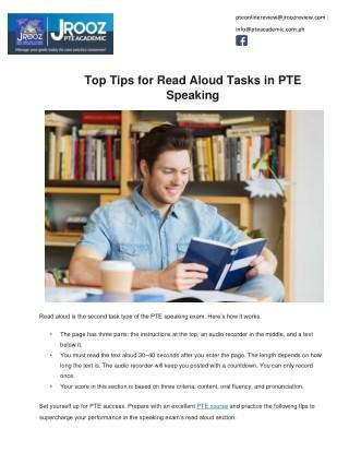 Top Tips for Read Aloud Tasks in PTE Speaking