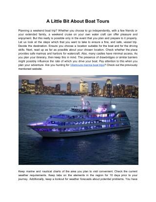 A Little Bit About Boat Tours