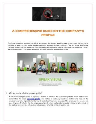 Company Profile Dubai