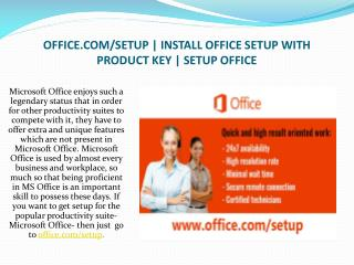 Install Office Setup with Product Key By office.com/setup