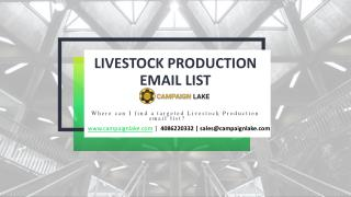 LIVESTOCK PRODUCTION EMAIL LIST
