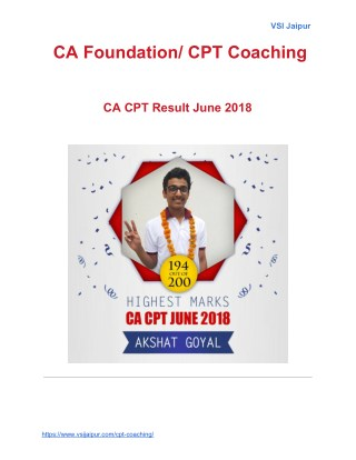 CA Foundation/ CPT Coaching
