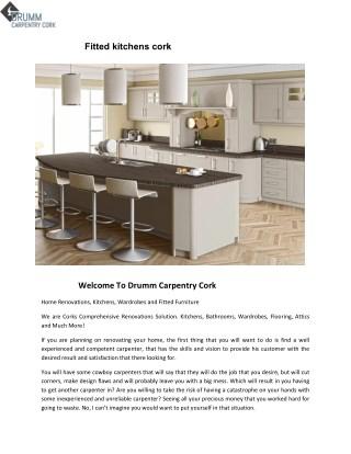 Fitted Kitchens Cork - Drumm Carpentry Cork