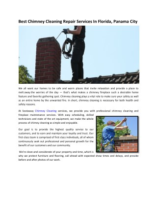 Affordable Chimney Cleaning Repair Services In Florida- Sootaway