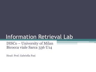 Information Retrieval Lab