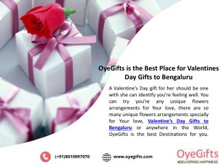OyeGifts is the Best Place for Valentines Day Gifts to Bengaluru