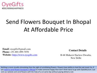 Send Flowers Bouquet In Bhopal At Affordable Price