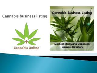 cannabis listings