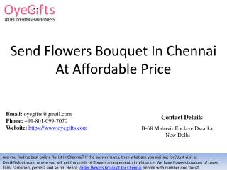 Send Flowers Bouquet In Chennai At Affordable Price