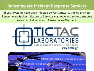 Ransomware Incident Response Services