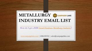 Metallurgy Industry Email List