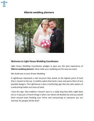 Alberta wedding planners