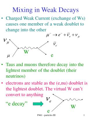 Mixing in Weak Decays