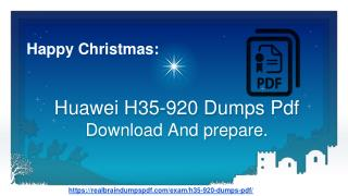 (2019) Fresh Updated Huawei H35-920 Dumps pdf | Learn And Get 90% Score