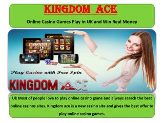 Online Live Casino Games Play in UK and Win Real Money