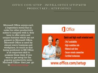 www.office.com/setup - How to Install Office Setup with Product Key