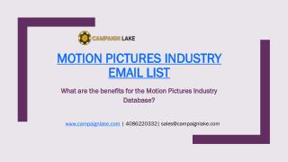Motion Pictures Industry Email List