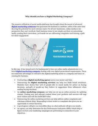 Digital Marketing Company   Digital Marketing Services