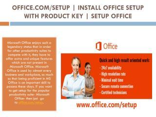 www.office.com/setup - Know How to Install Office Setup with Product Key By office.com/setup