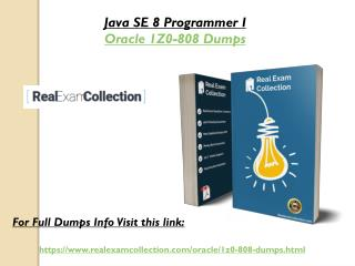Valid Oracle 1z0-808 Question Answers - 1z0-808 Dumps RealExamCollection