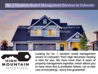 No. 1 Vacation Rental Management Services in Colorado | High Mountain Hosting