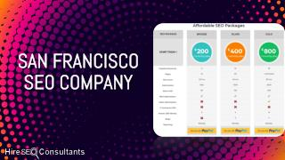 Why Hire SEO Consultants is the best SEO Company in San Francisco