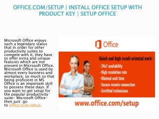 www.office.com/setup - Know How to Download and Install Office Setup with Product Key